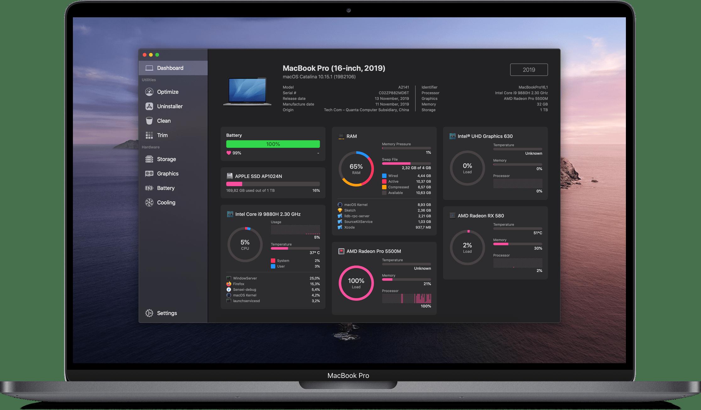 Sensei 1.3.4 Mac 破解版 Mac性能优化及清理工具