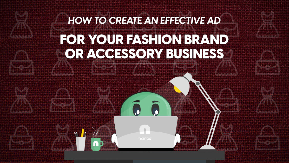 effective ad for fashion brand or accessory business