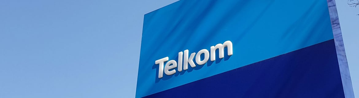 Telkom South Africa sign on building