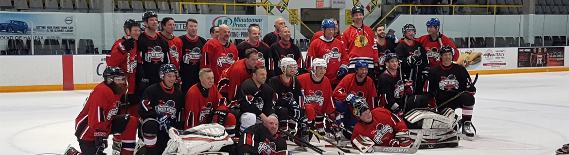 Hockey Hero's group shot featuring Norm Gallant from Maplewave CST team
