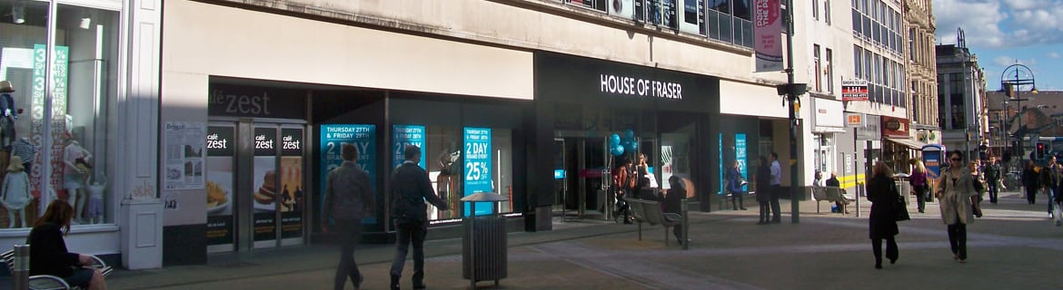 House of Fraser store on a street