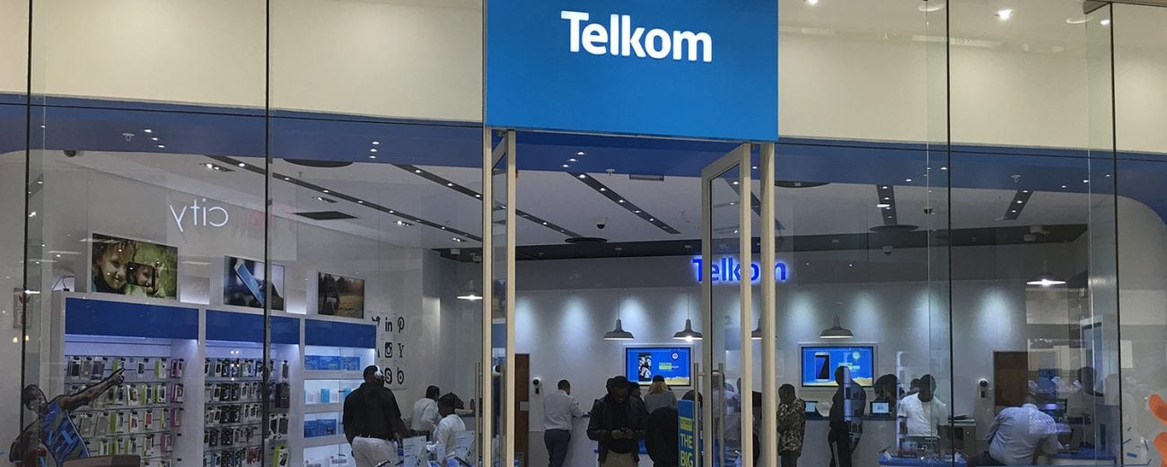 Telkom South Africa store front in shopping centre