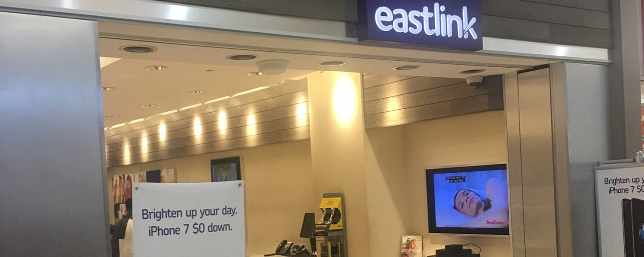 Eastlink store front in shopping centre