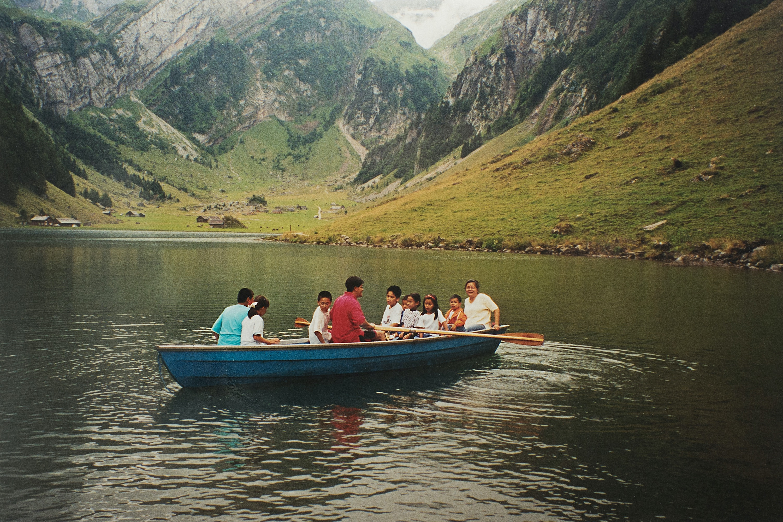 Familienausflug zum Seealpsee in Appenzell, um 2004