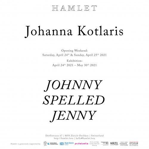 Johanna Kotlaris: Johnny spelled Jenny