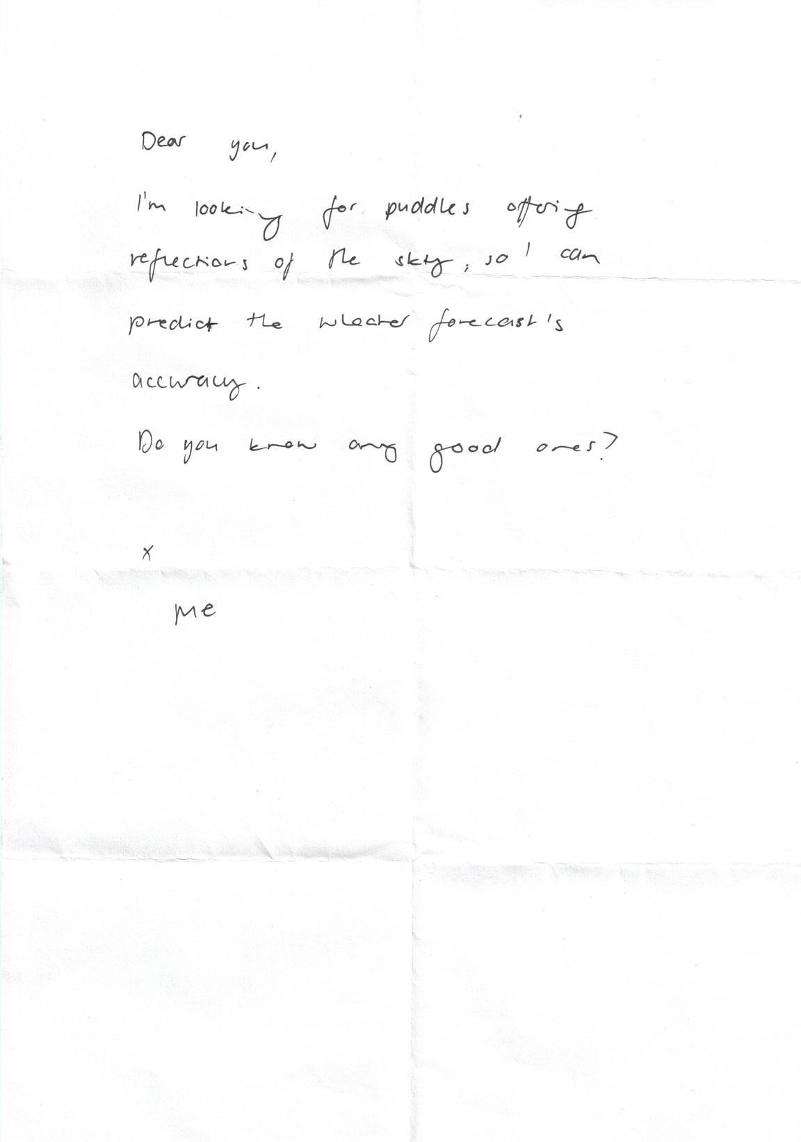 score from a class on water (eine Performance in Kollaboration mit Anastasia McCammon)