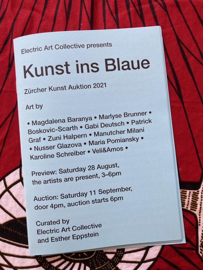 Kunst ins Blaue