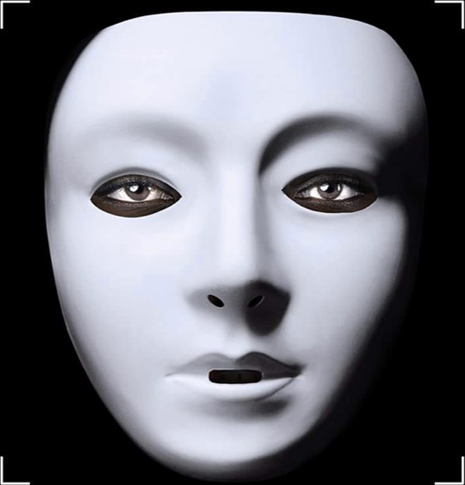 White mask from coded bias.