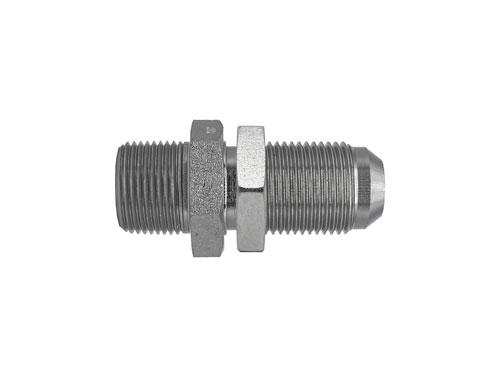 2706LN - Male Pipe - Male JIC Bulkhead with Locknut