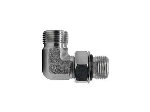 FF6801 - Male Face Seal - Male O-Ring Boss 90 Degree Elbow
