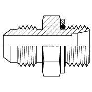 9606S - Male JIC - Male DIN Heavy W/ Seal