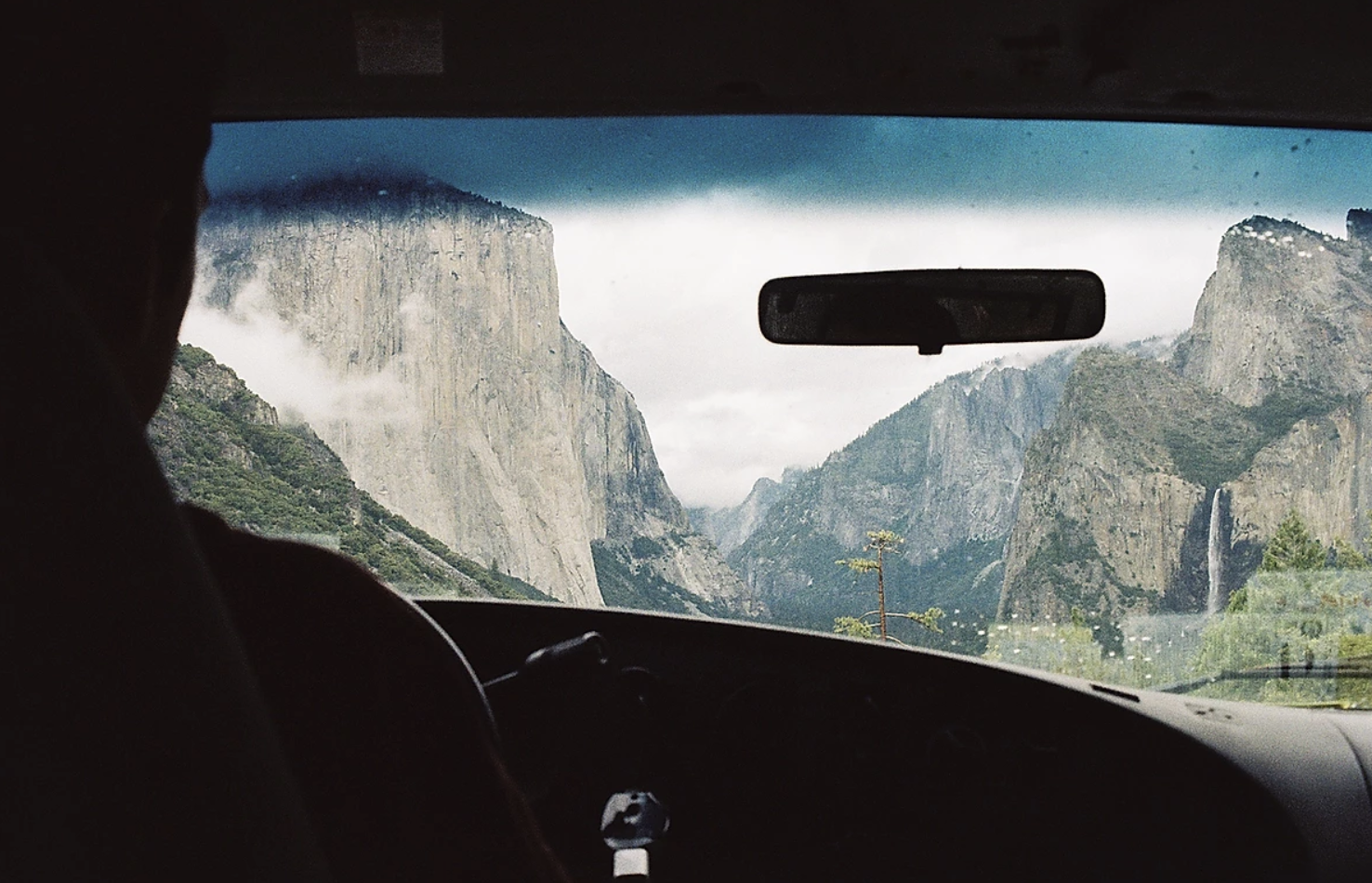 Driving into Yosemite