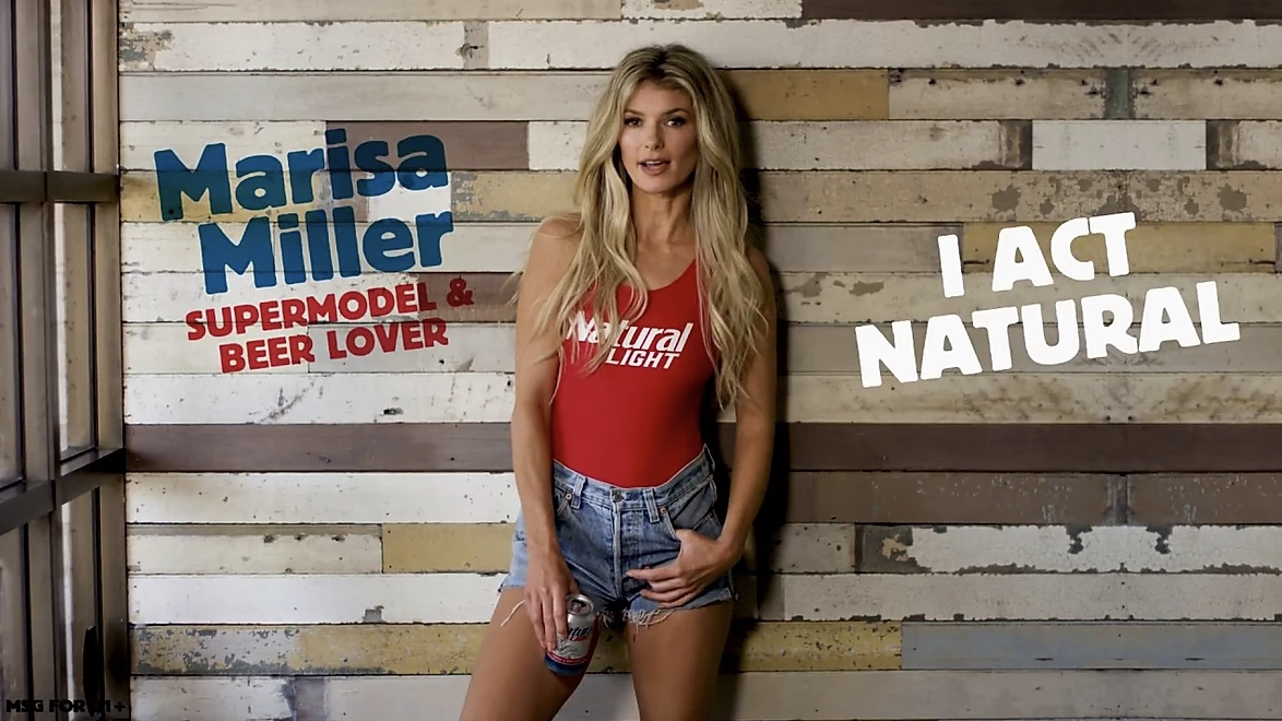 Marisa Miller in a Natural Light Ad