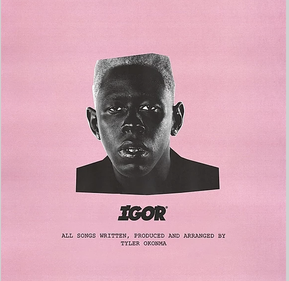 album cover for the album, IGOR