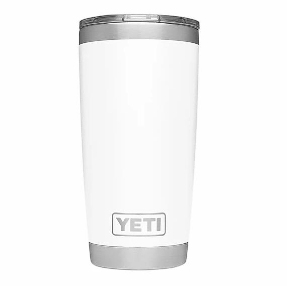 A White YETI mug