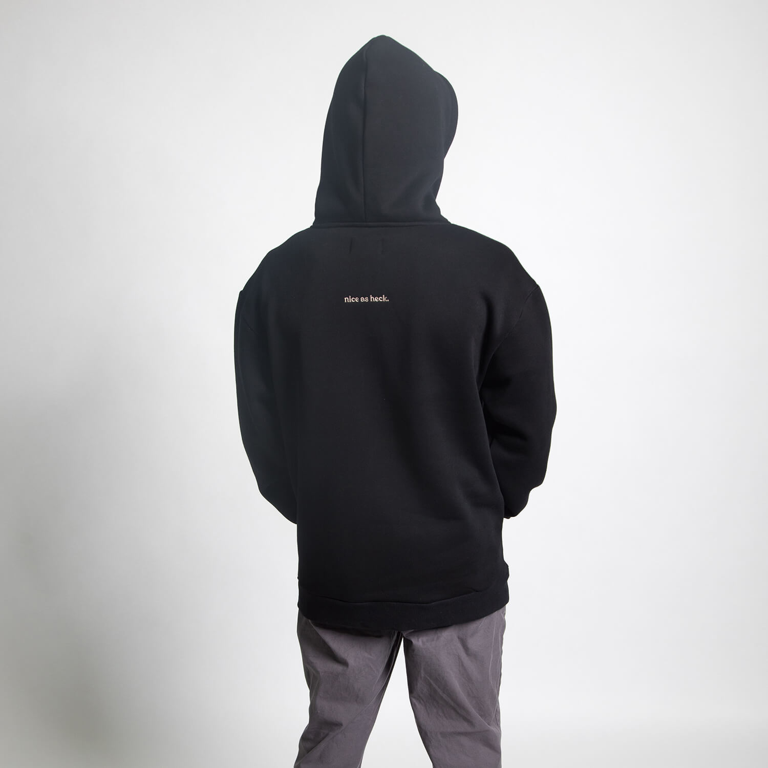 boy wearing trainhopper hoodie