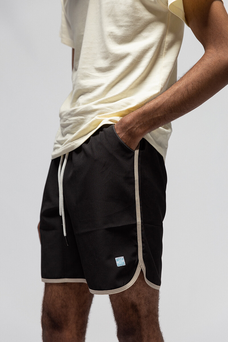 boy wearing move and groove shorts