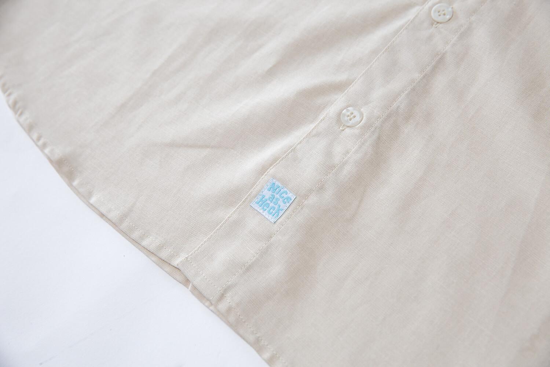 lowdown linen shirt close up
