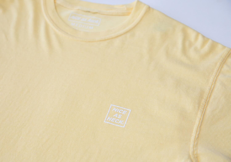 mellow yellow tee close up