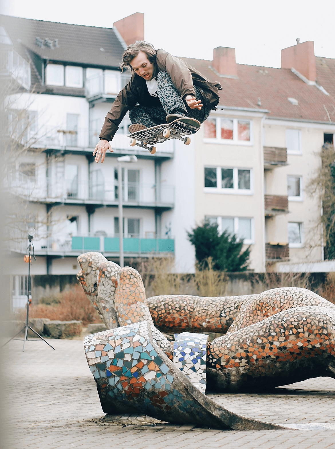 guy jumping on a skateboard