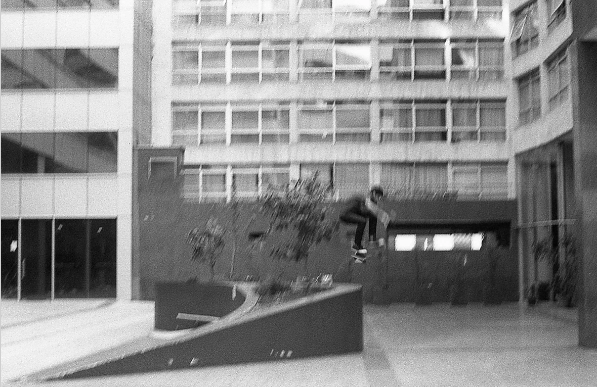 skater jumping off a wall
