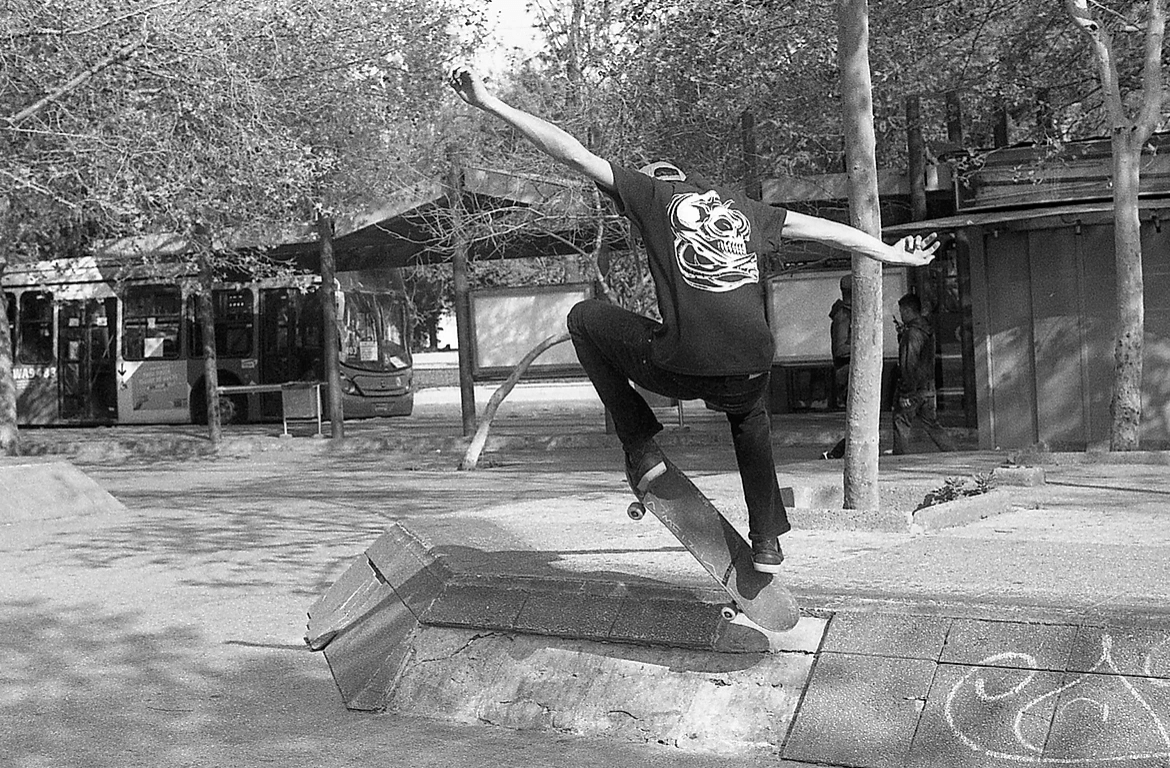 skater doing an ollie