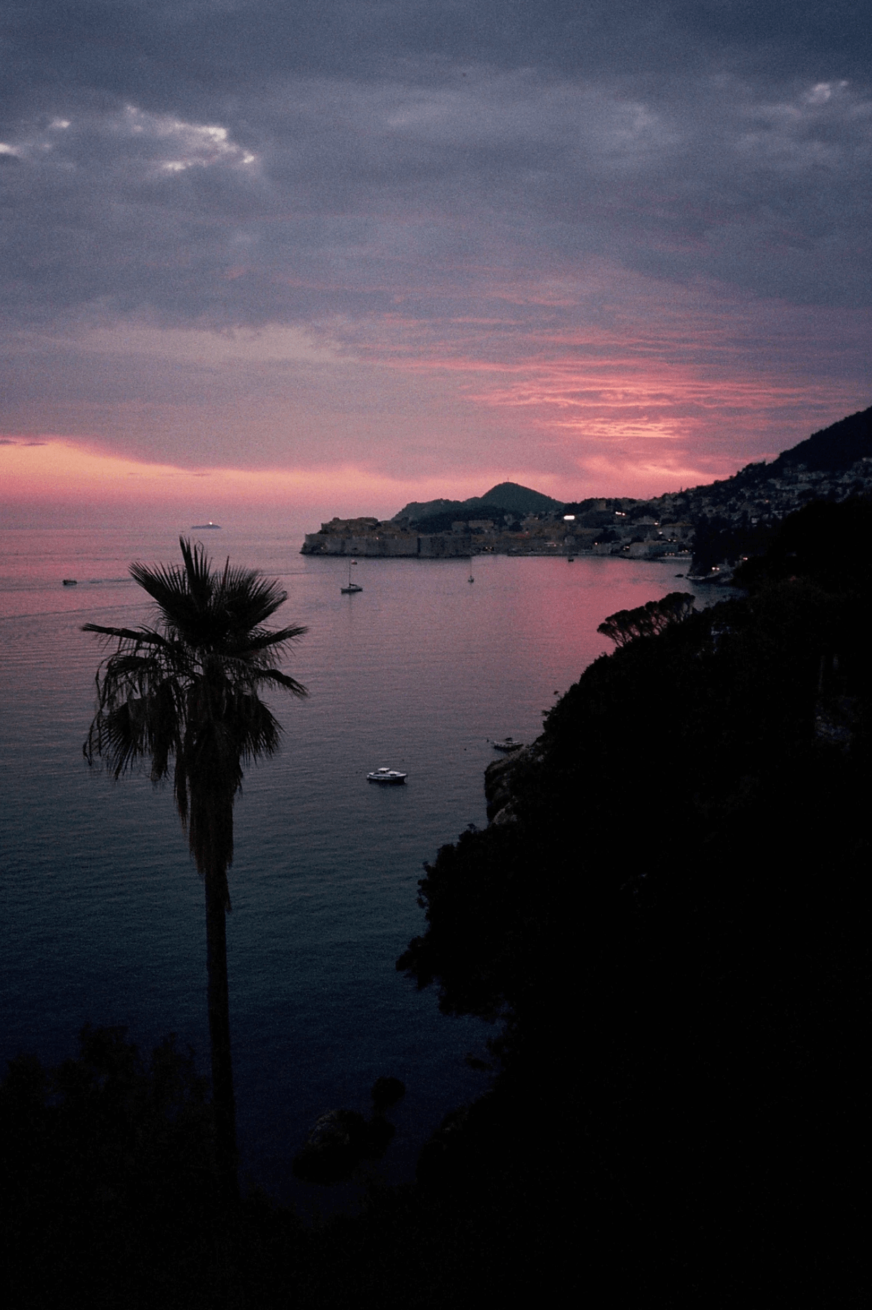island during sunset