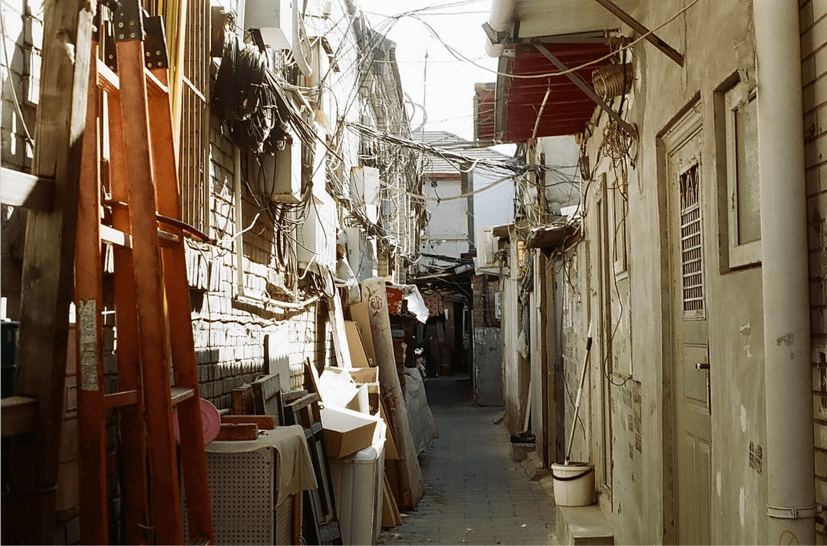 crowded alley