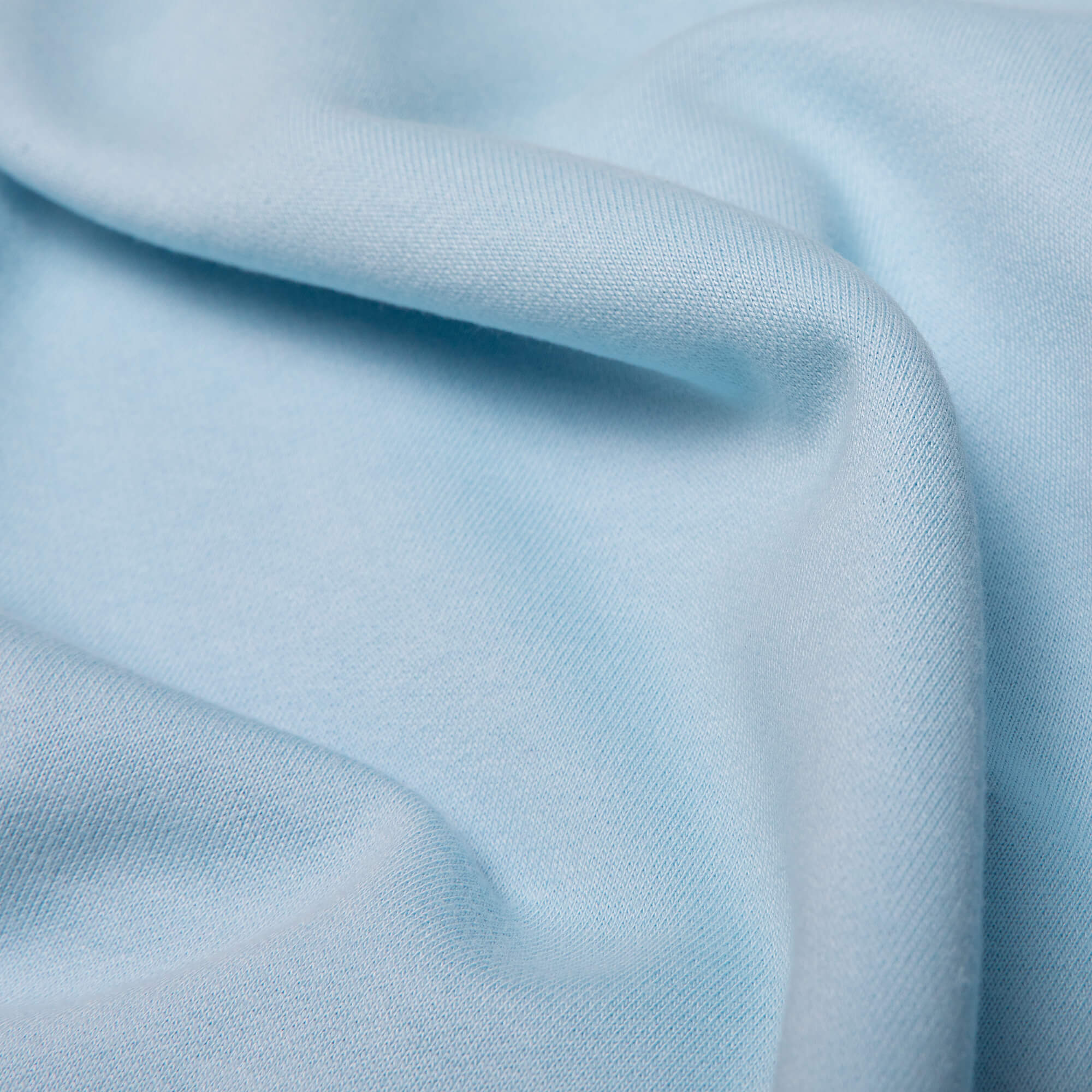 close up of the fabric for the blue goin steady hoodie