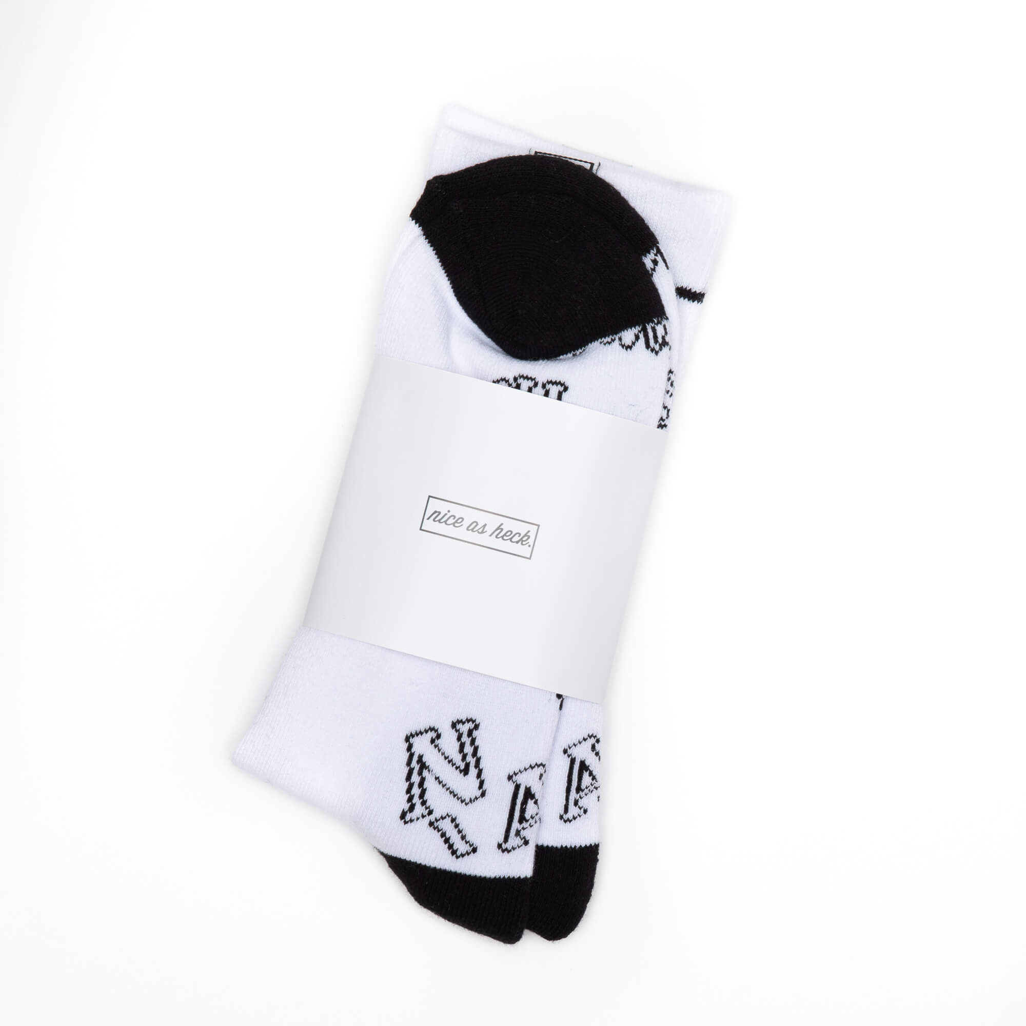 white jim socks in packaging