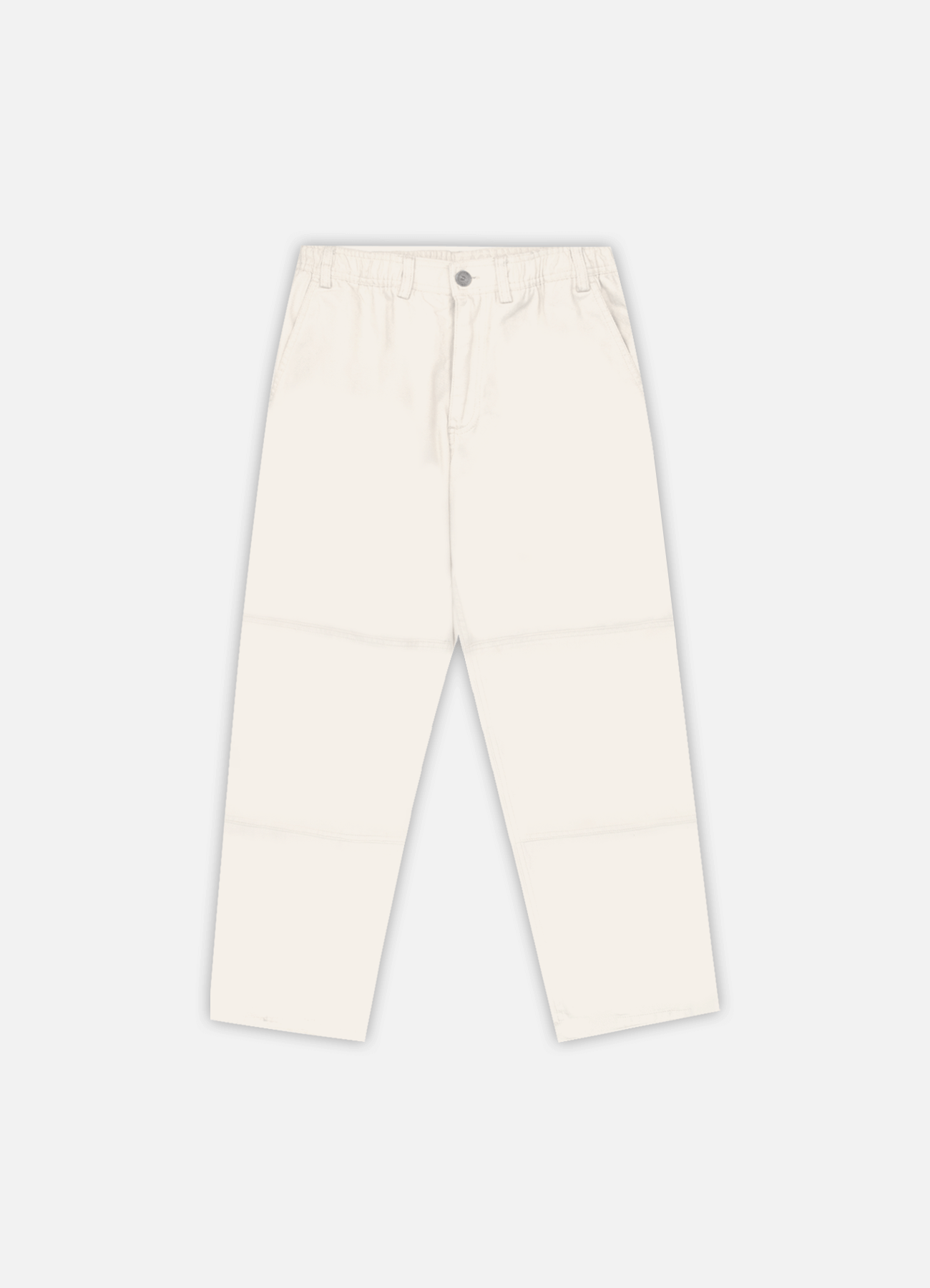 front view of off white cross country carpenter pants