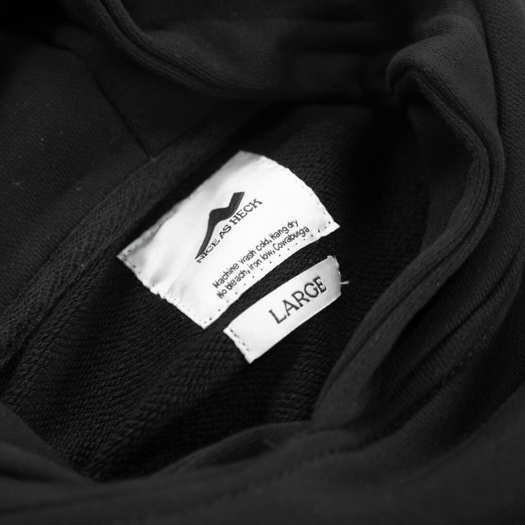 close up view of the hood on favorite hoodie