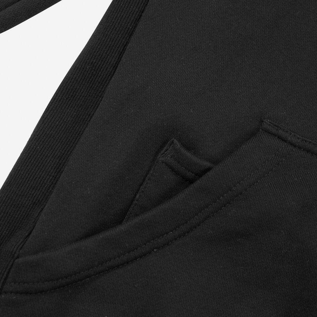 close up view of hoodie pocket on favorite hoodie