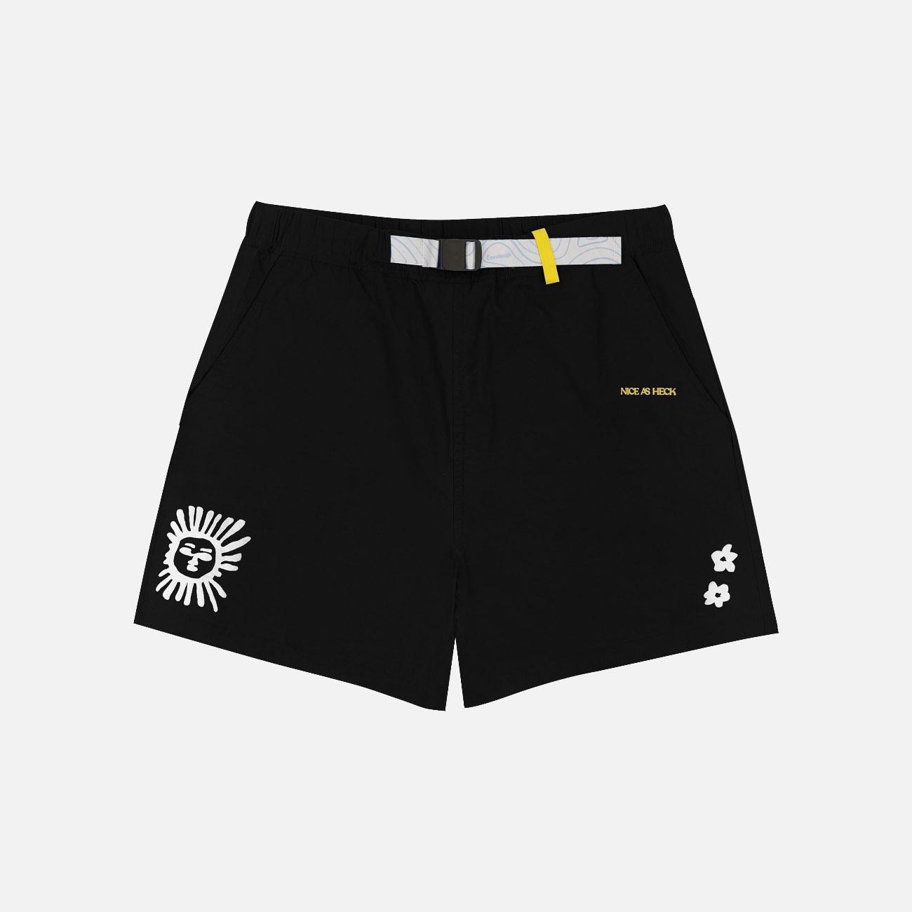 Daytripper Graphic Nylon Shorts | Black