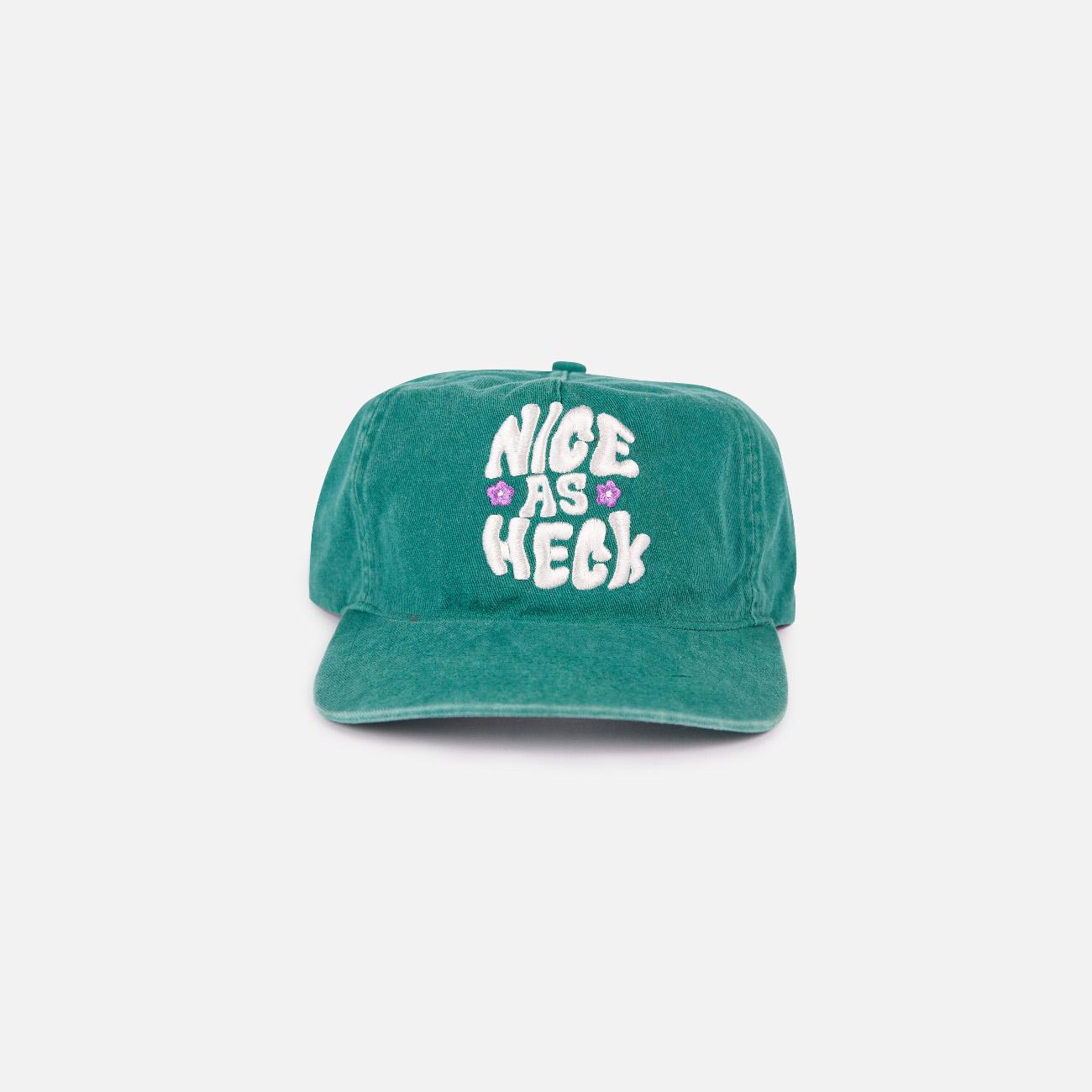 Flower Unstructured Hat | Green