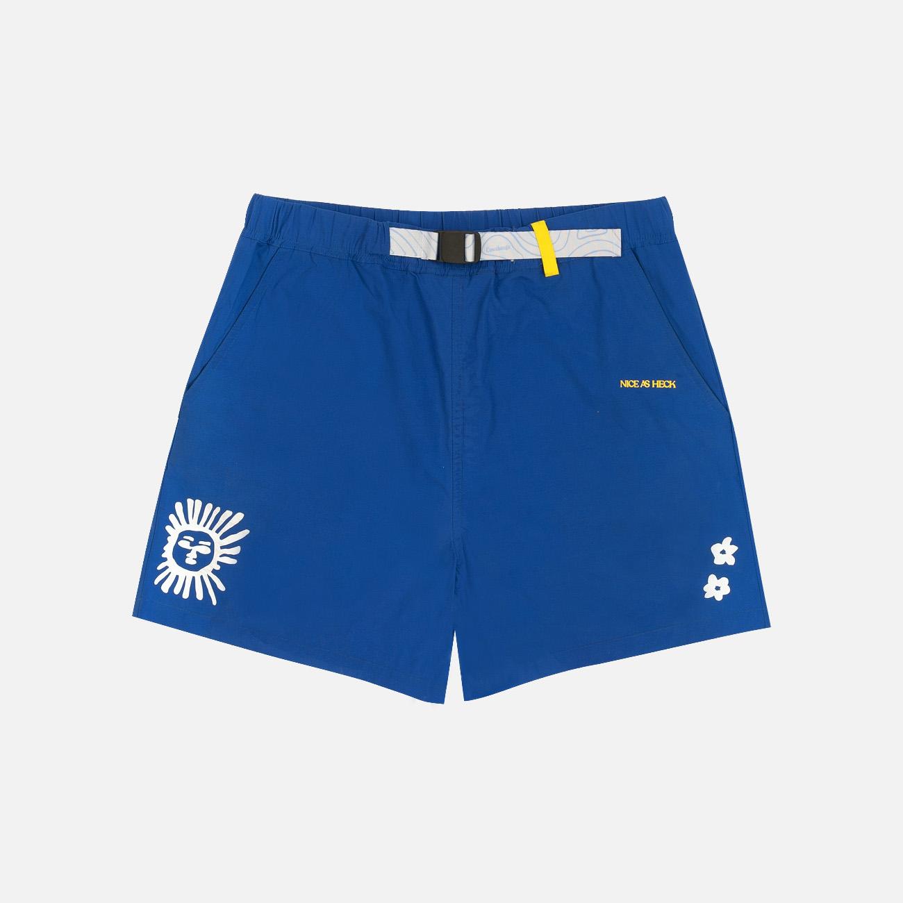 Daytripper Graphic Nylon Shorts | Blue