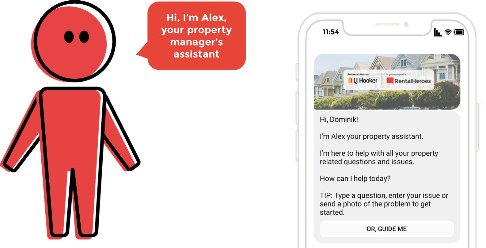 "Rental Heroes ""Alex"" = the property manager's virtual assistant"
