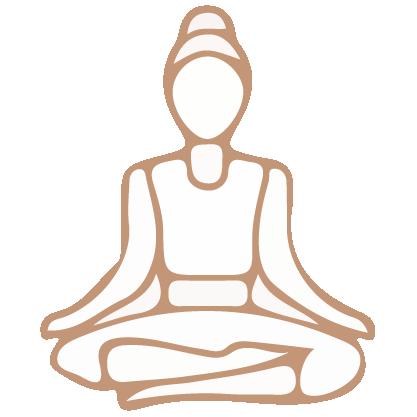 Woman sitting cross legged for meditation.