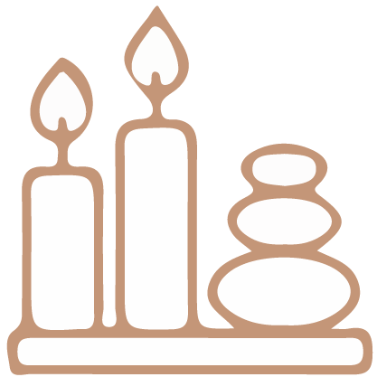 Candles and stacked stones icon