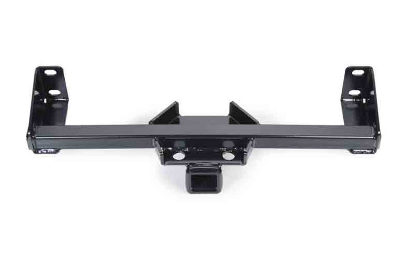 Image of the rear hitch receiver on a white background.