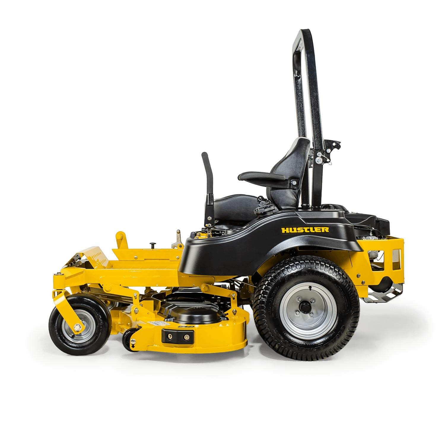 Image of the profile of a yellow riding mower showing the trim edge of the deck