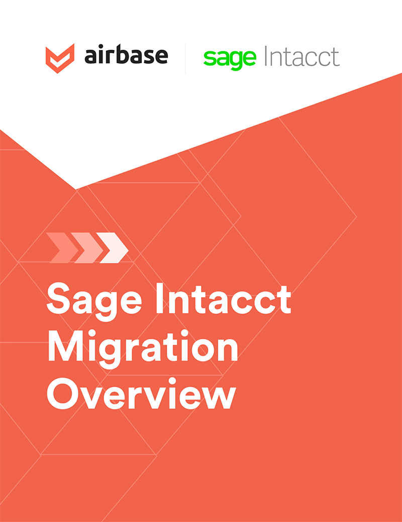 Sage Intacct high-level migration project plan.