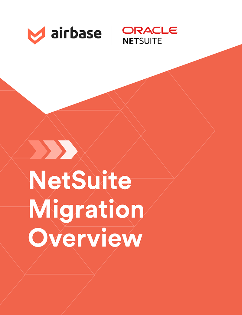 NetSuite high-level migration project plan.