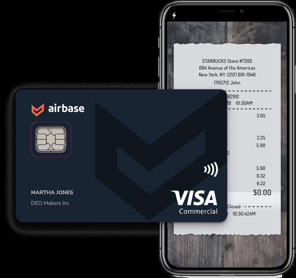 Airbase corporate card program for business spending.