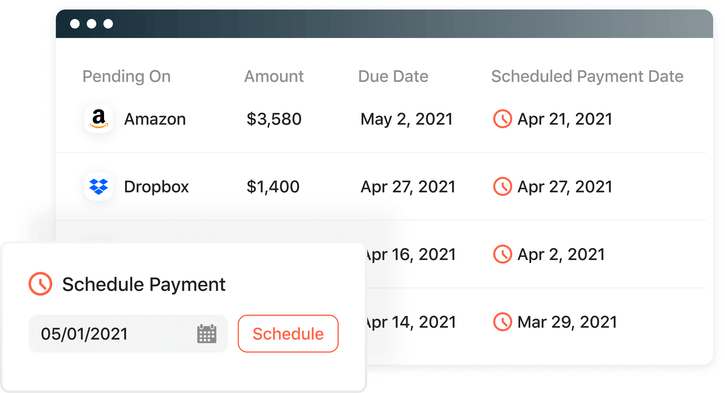 Airbase bill payments handles all your payments by check and ACH.