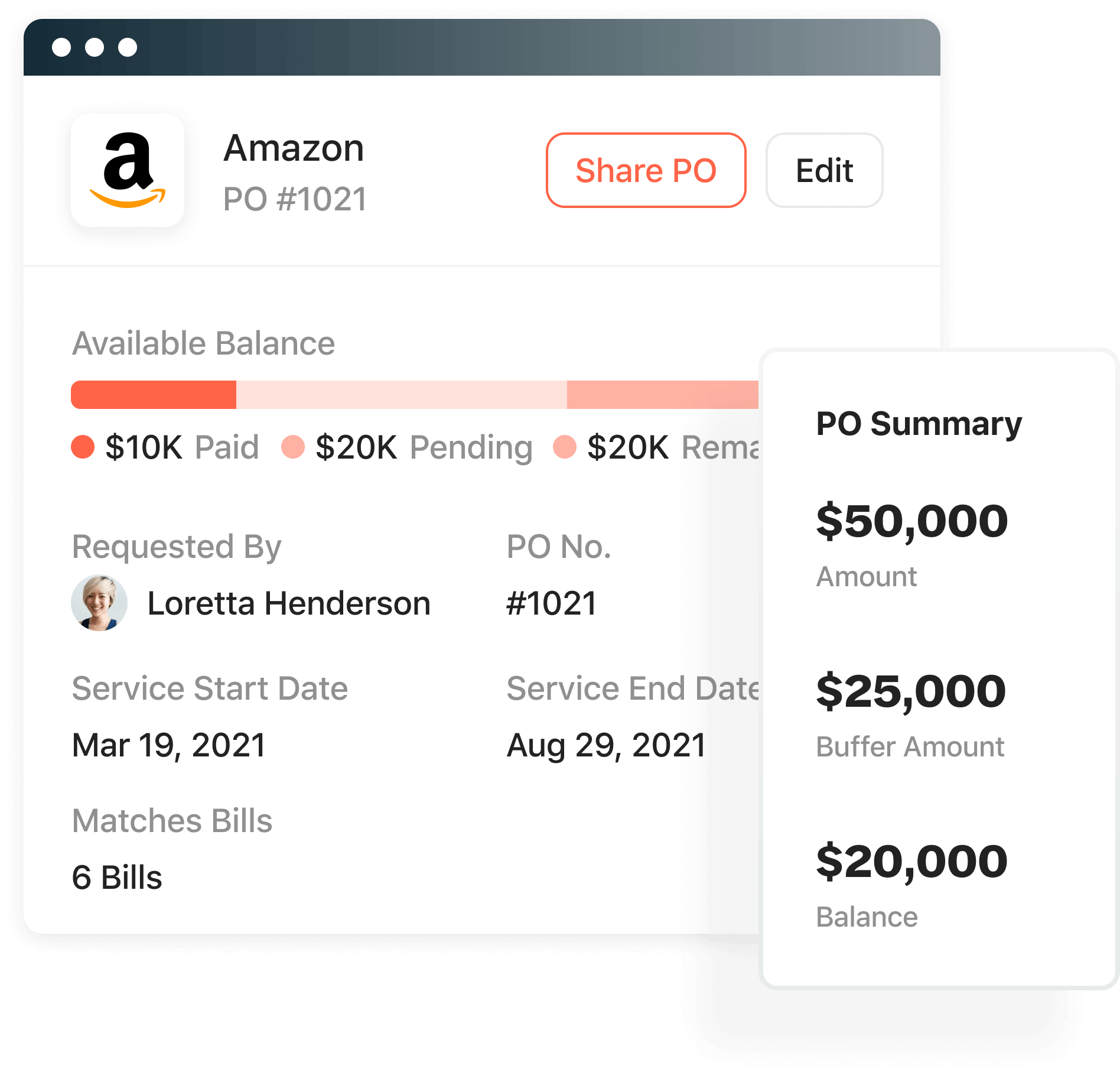 Create purchase orders in Airbase.