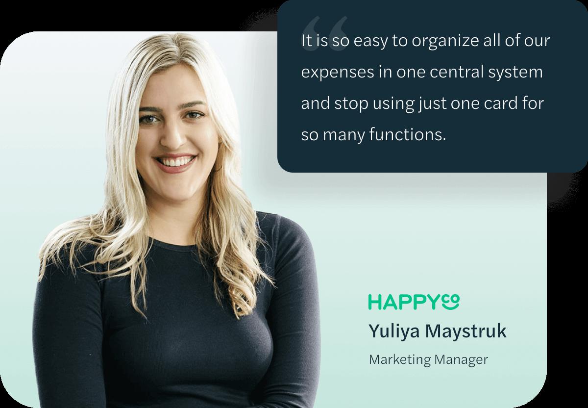 Yuliya Maystruk, Marketing Manager at Happyco