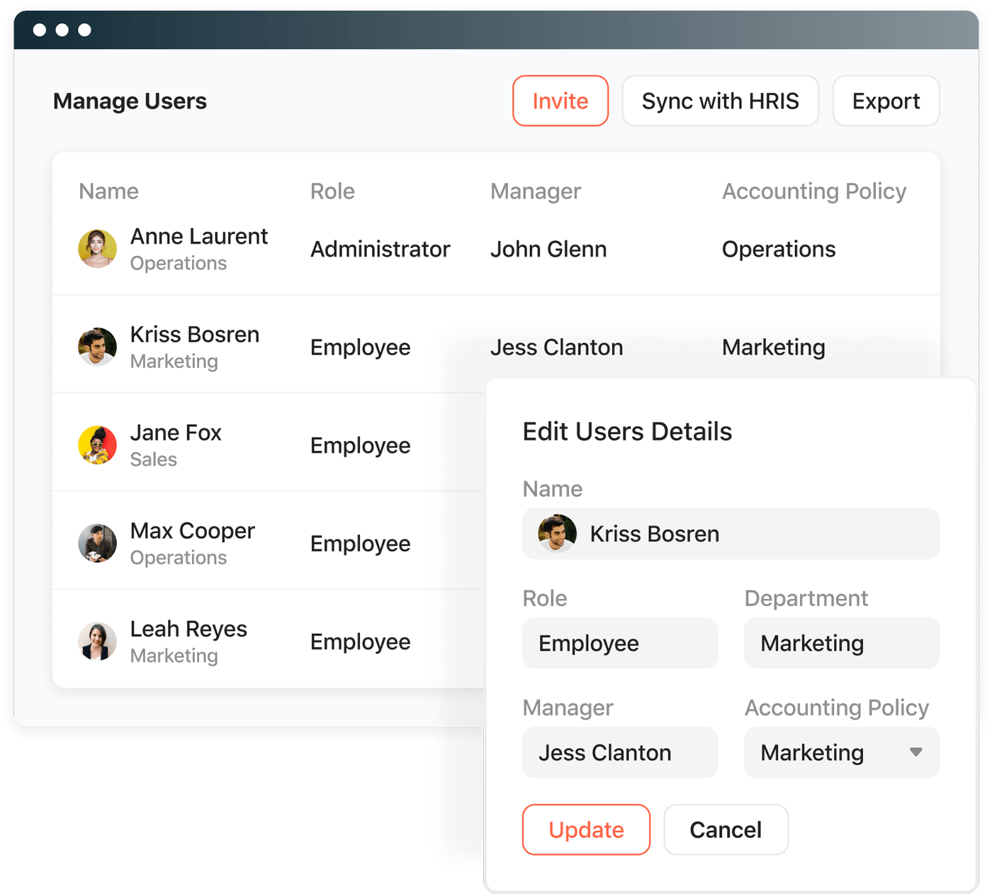 User profiles are automatically updated.