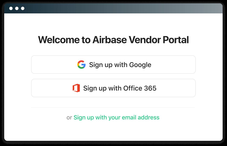 Secure login for vendors.