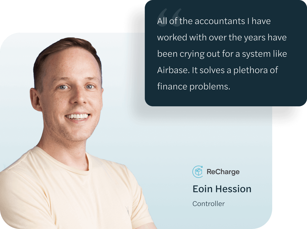 Eoin Hession, Controller at ReCharge.